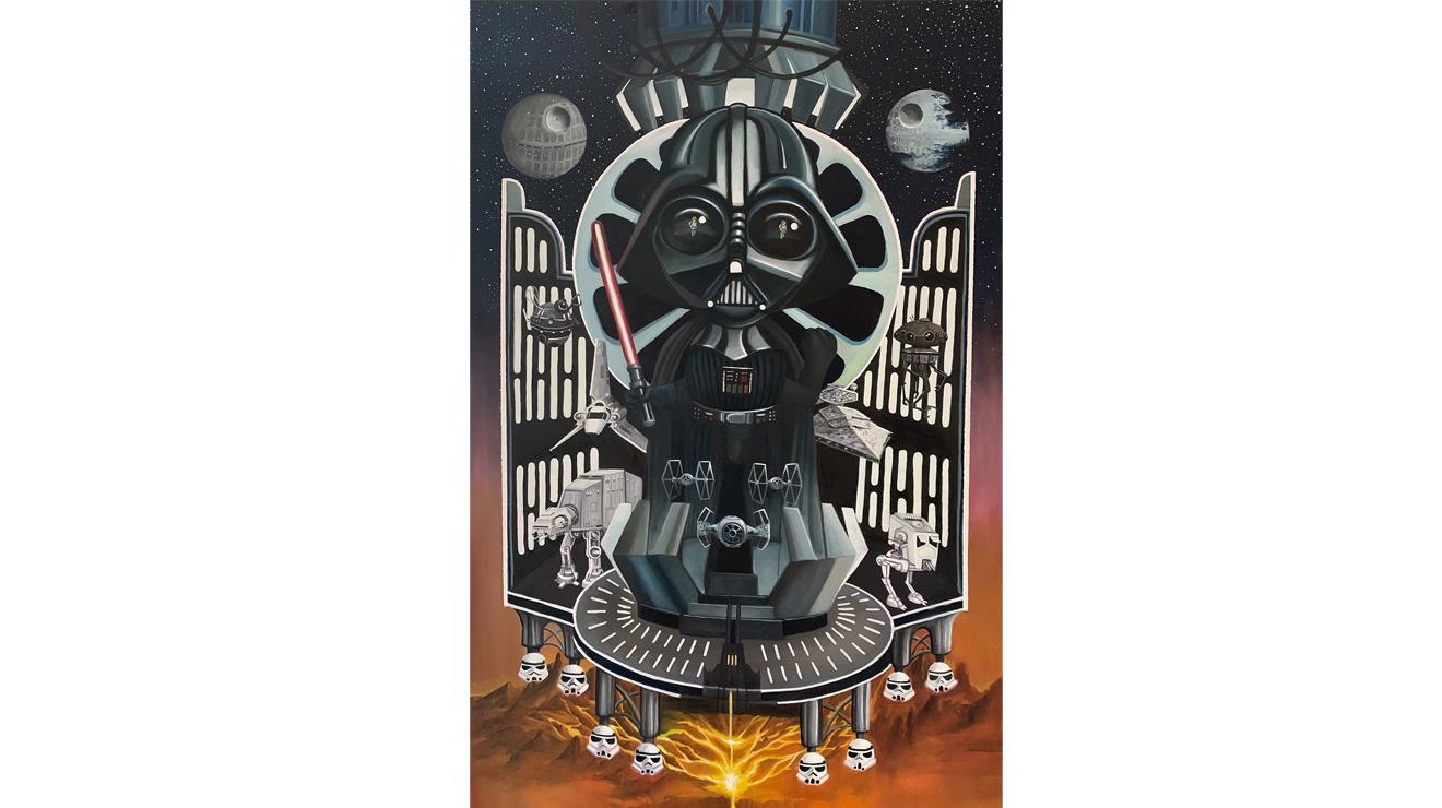 Cartel Darth Vader perteneciente a la exposición Star Wars. Un tributo de Erik Rivera