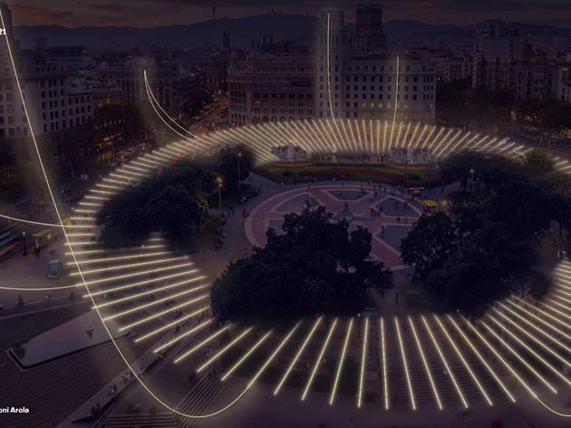 Llums de Nadal de plaça Catalunya