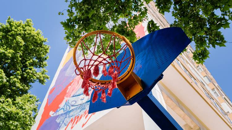 Kobe Bryant homenageado em campo de basket em Lisboa