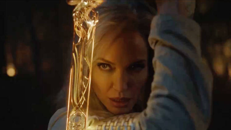 Angelina Jolie plays Thena in Marvel Studios The Eternals, directed by Chloe Zhao