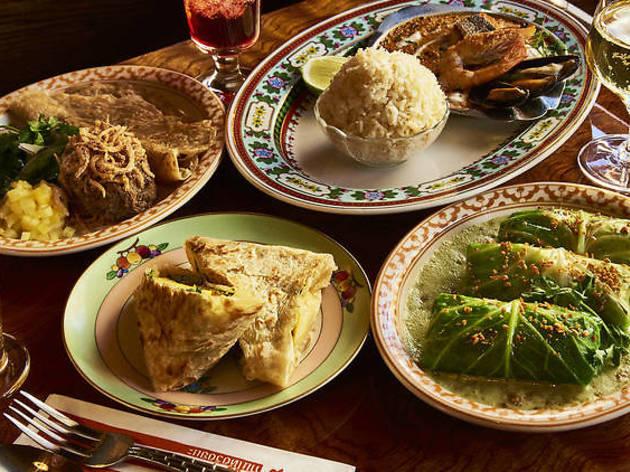 Menu items at Thai Diner