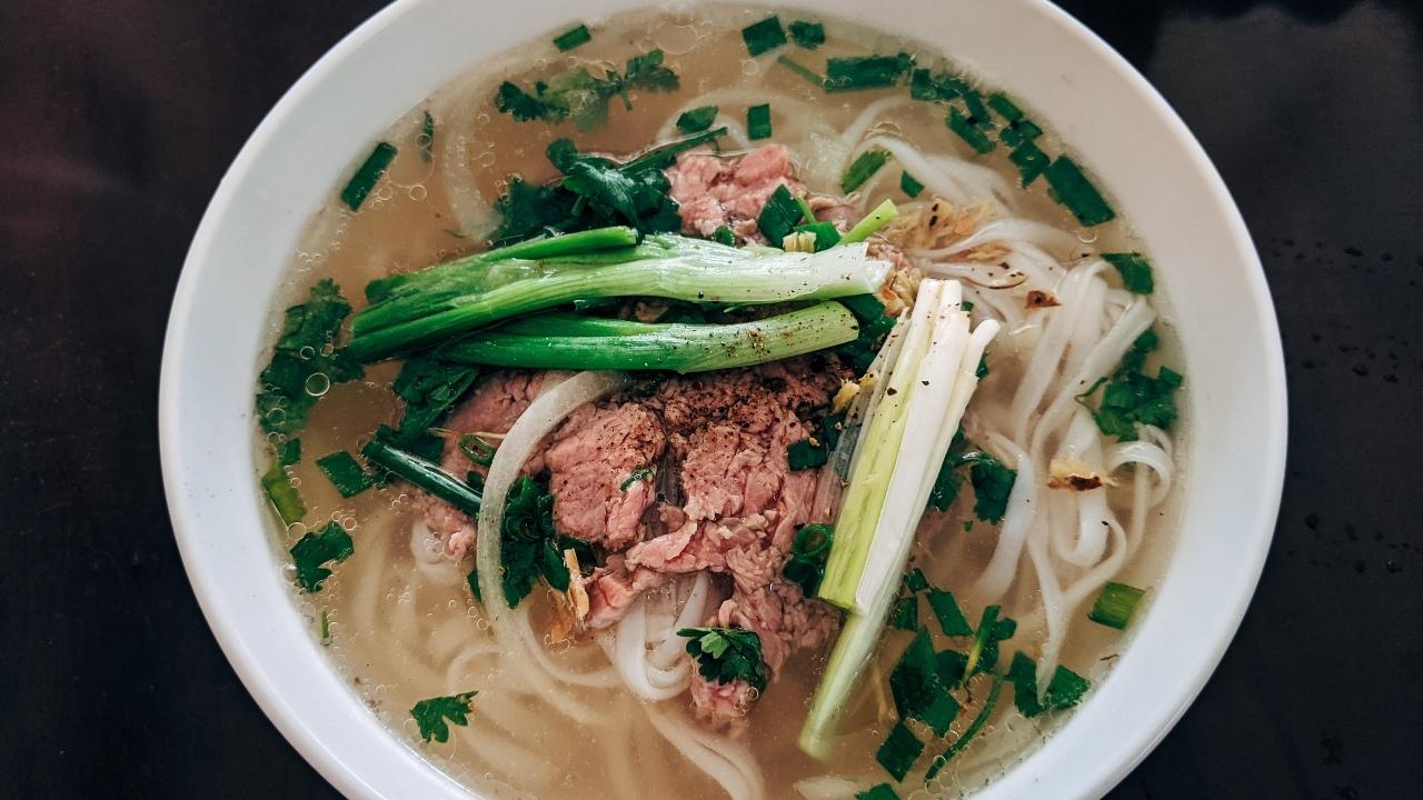 Vietnamese beef noodle soup (pho)