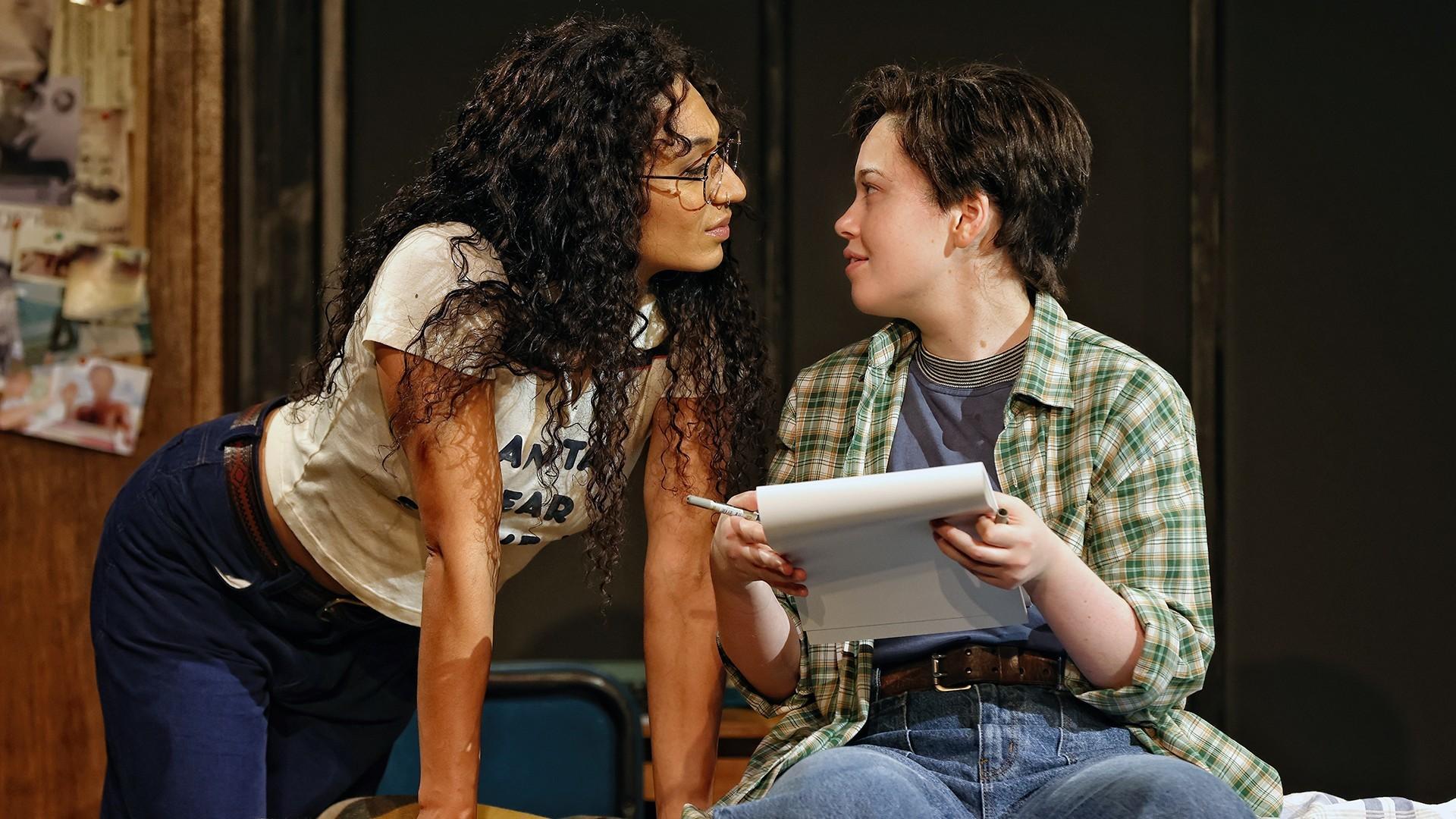 Emily Havea and Maggie McKenna in Sydney Theatre Company's Fun Home , 2021