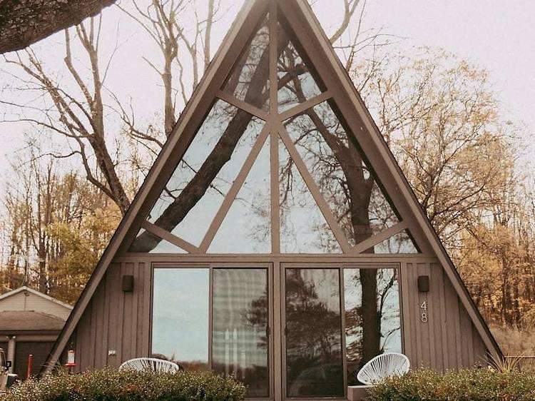 The Triangle House on Fine Lake