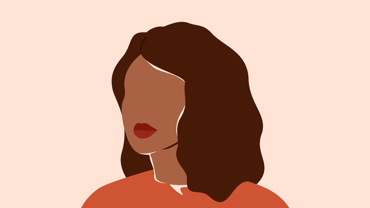 Retrato de una mujer en vectores