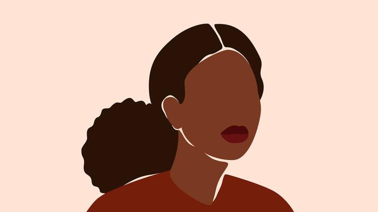 Ilustración en vectores de una mujer