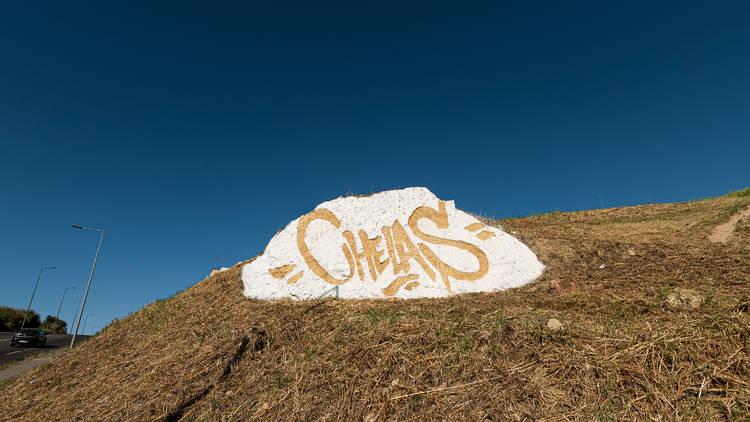 Chelas é o Sítio, mural Vhils, rua Salgueiro maia, chelas, Marvila