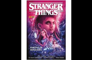 Ilustración de portada del cómic stranger things hacia la hoguera