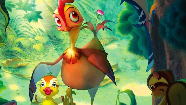 Leafie: una gallina salvaje