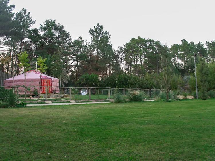 Una yurta en la sierra Peredol, en Anglès