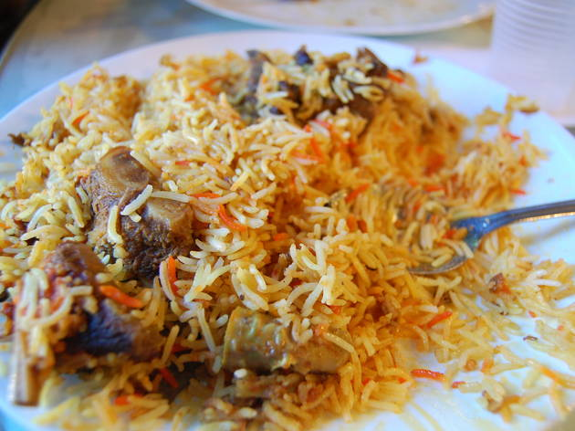 Plate of Mutton Biryani.