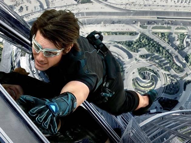 Tom Cruise on Burj Khalifa