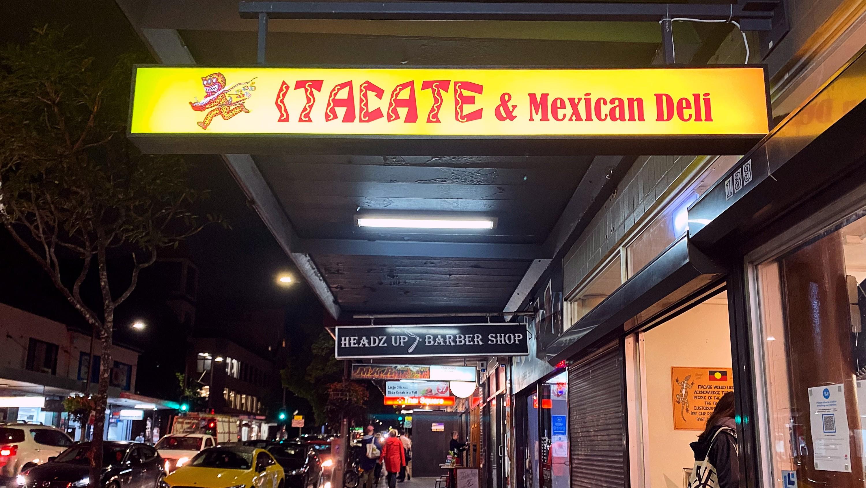 Sign saying Itacate