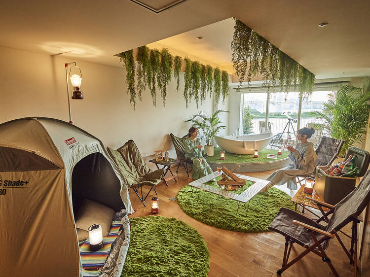 5 places to go indoor camping in Tokyo