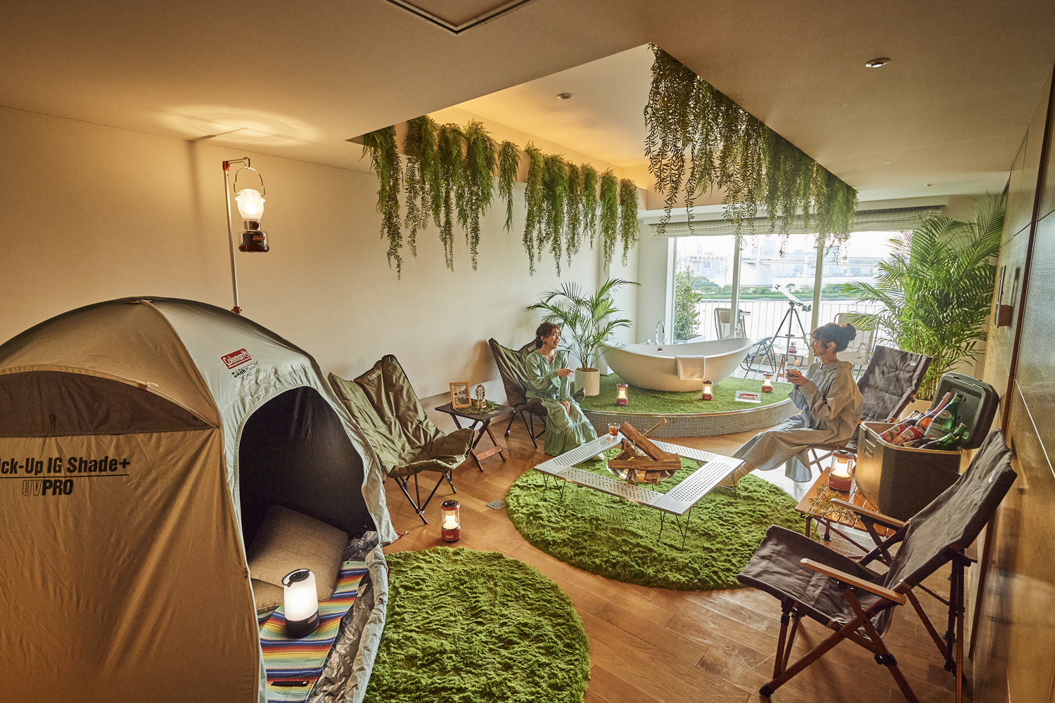 Hilton Tokyo Odaiba now offers in-room camping and seaside barbecues