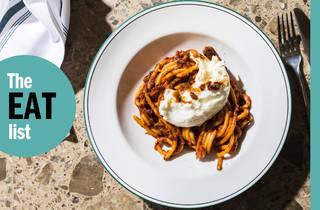 Eat list overlay over Hardware Club pasta