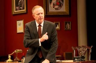 Jonathan Biggins portraying Paul Keating in a fancy study