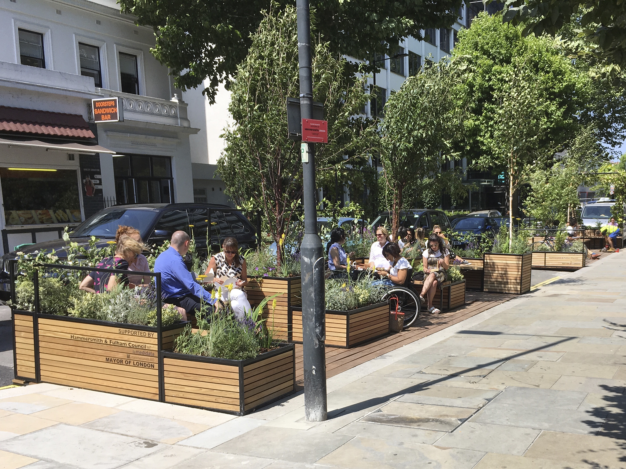 London's catching the 'parklet' bug