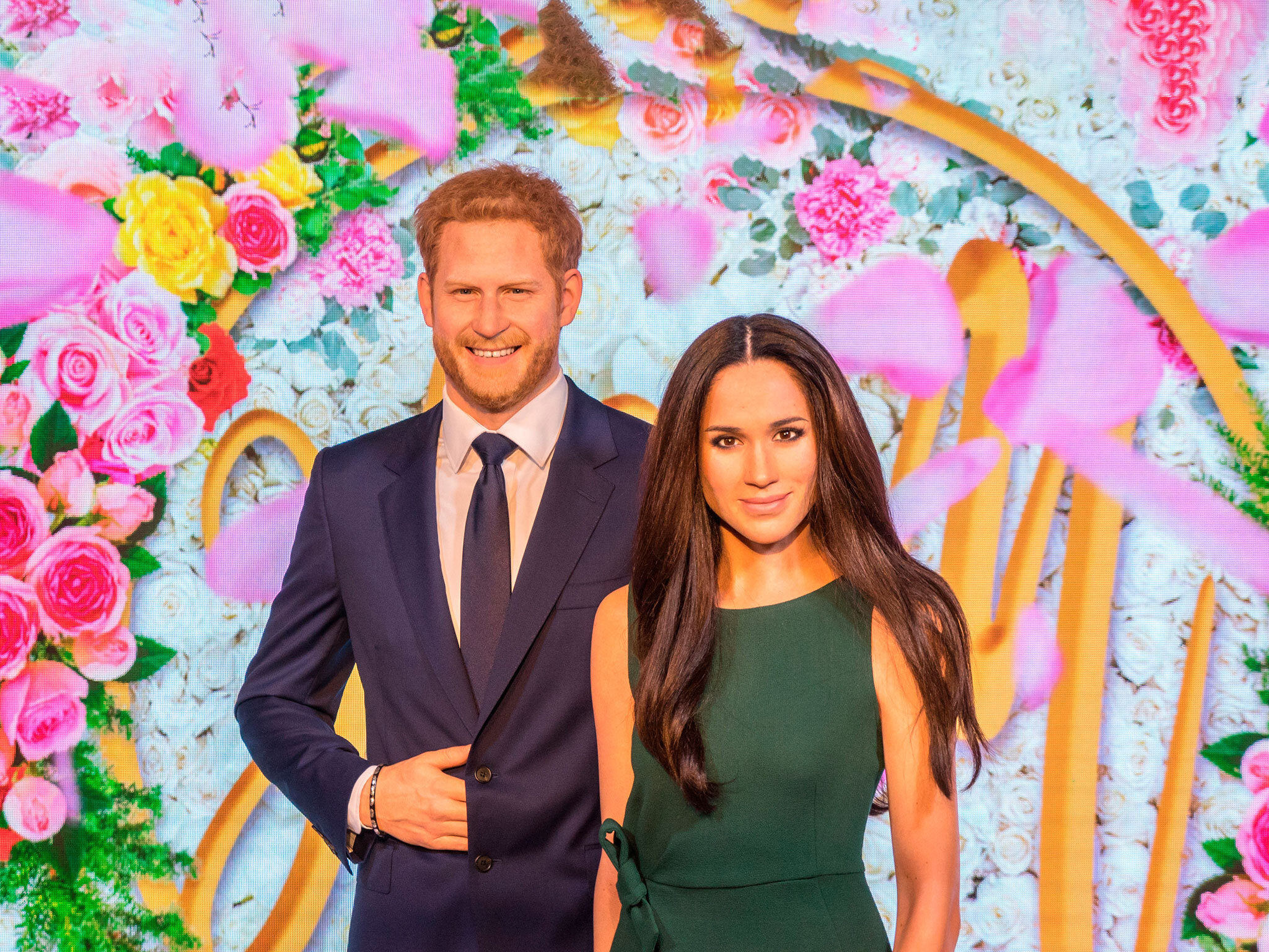 Even the wax versions of Harry and Meghan have moved to Hollywood