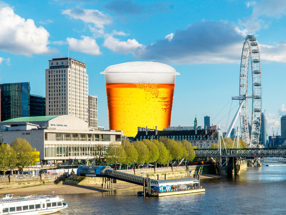 London's biggest beer garden is opening on the South Bank