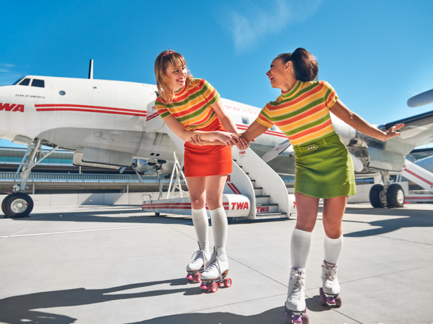 TWA Hotel Roll-A-Rama runway rink