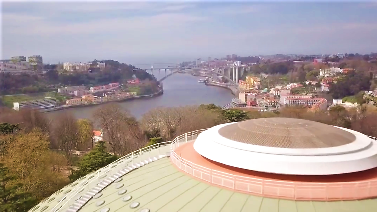 Miradouro na cúpula da Super Bock Arena - Pavilhão Rosa Mota
