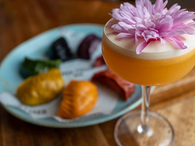 Cocktails and dumplings at the Espy