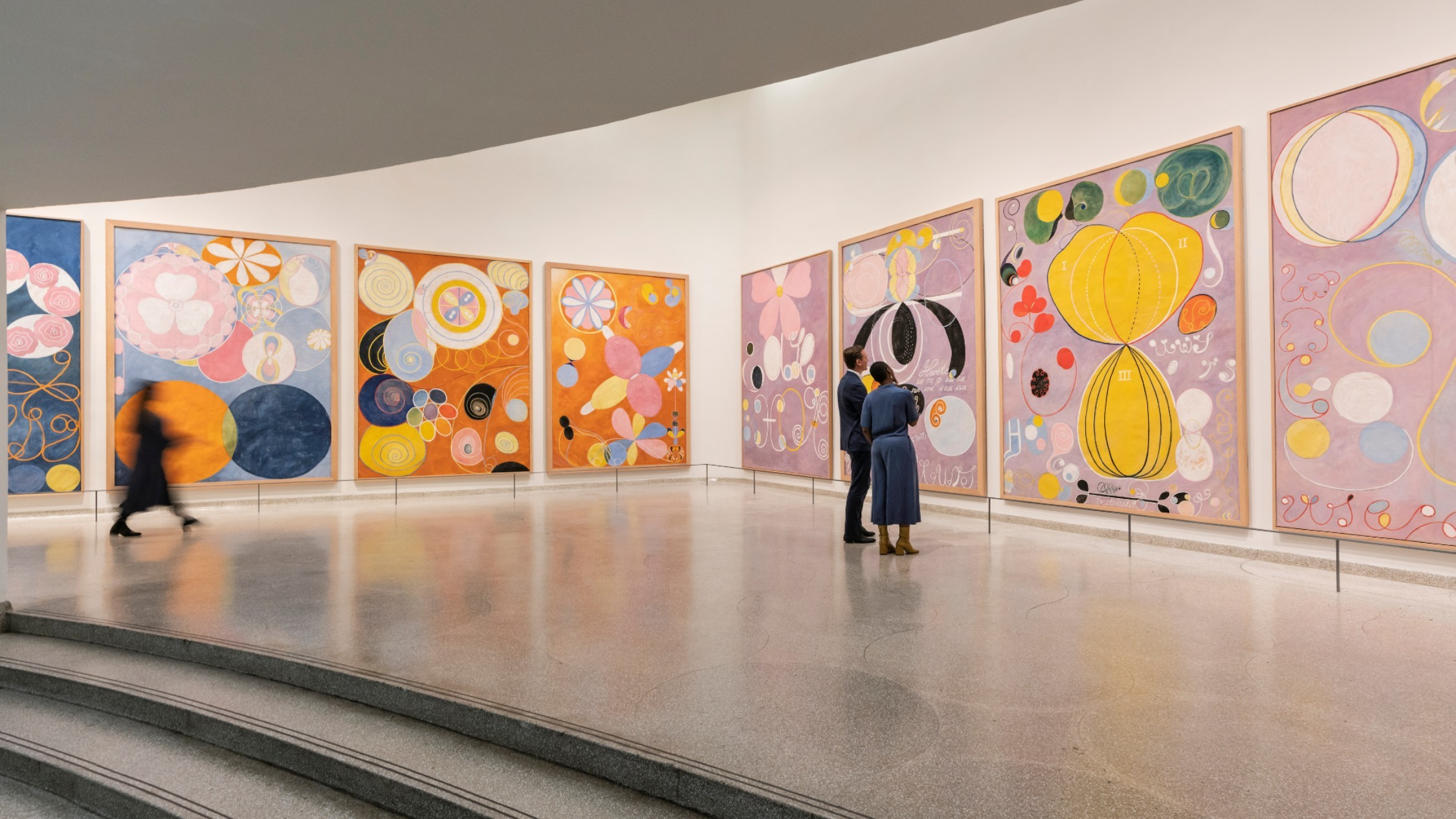 A gallery view of Hilma af Klint's beautiful abstract series 'The Ten Largest'