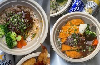Hambāgā rice bowls
