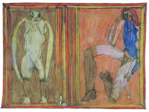 ヨーゼフ・ホーファー《無題》 2009年  鉛筆、色鉛筆、紙 44×60cm