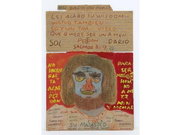 カルロス・ハビエル・ガルシア・ウエルゴ《無題》 1990年  フェルトペン、アクリル絵の具、段ボール 72.4×50cm photo:MIYAJIMA Kei