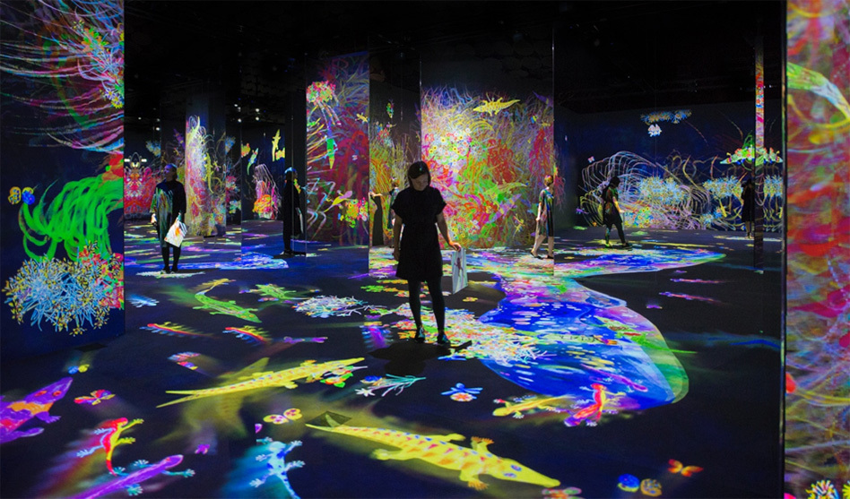 teamLab 'Graffitti nature: lost, immersed and reborn'