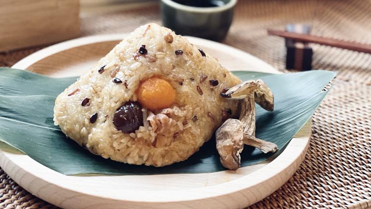 OmniPork Strip Rice Dumpling with Porcini & Vegan