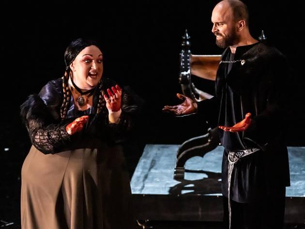 Helena Dix and Simon Meadows in Macbeth