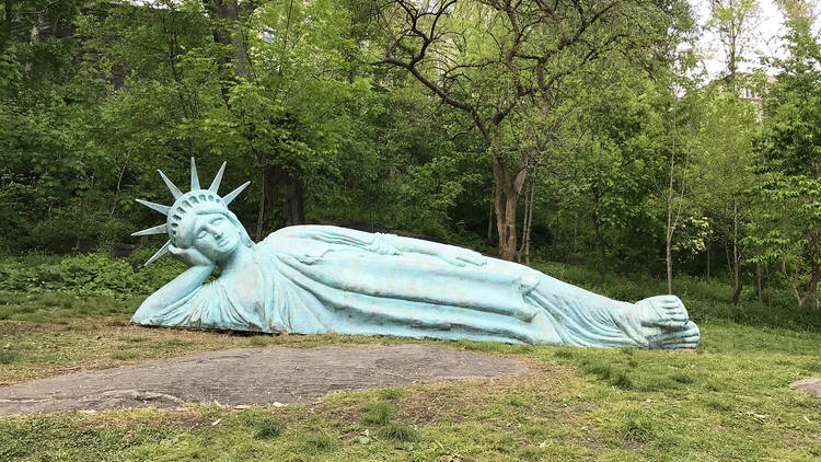 The Statue Of Liberty Is Lounging At, Statue Of Liberty Garden