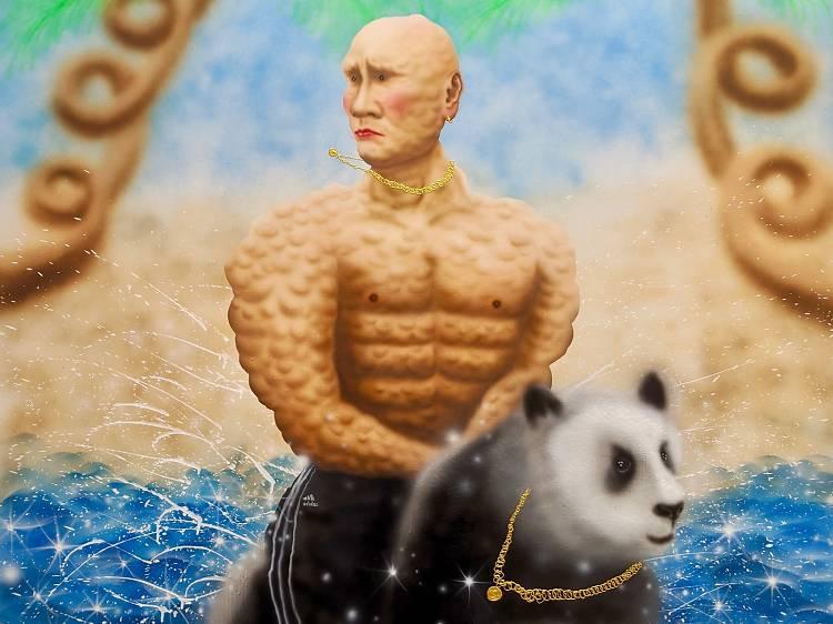 尤阿達《A man riding an iron-eating animal》