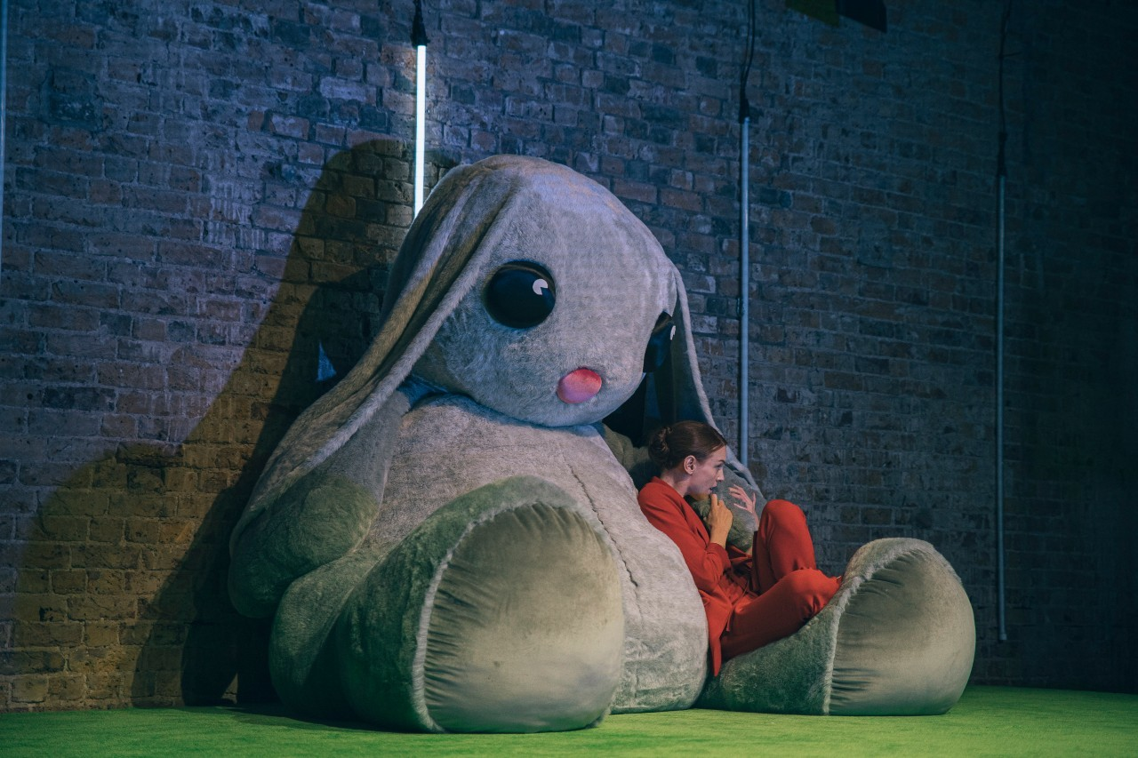 The Bush Theatre is giving away a toy rabbit the size of an elephant