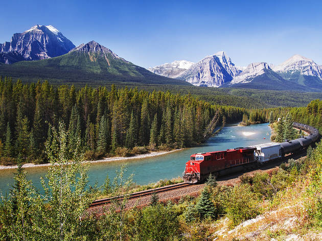 Train in Bow Valley, Canada