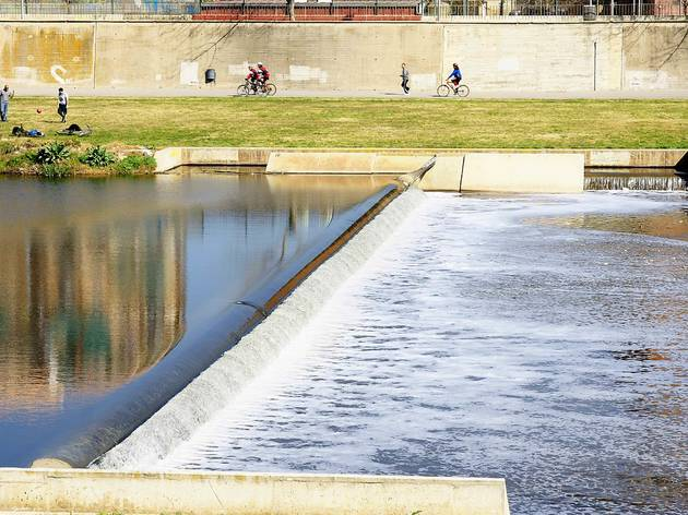 Besos River in the Sant Adria del Besós river park, Barcelona, Catalunya, Spain