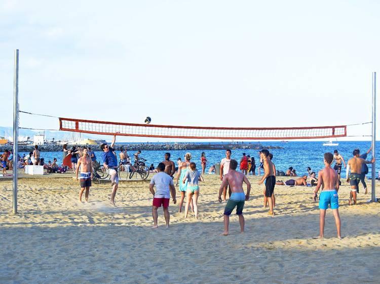 Vóley en la playa