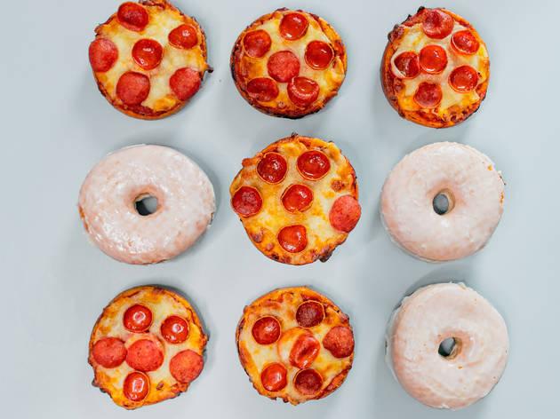 Pizza doughnuts