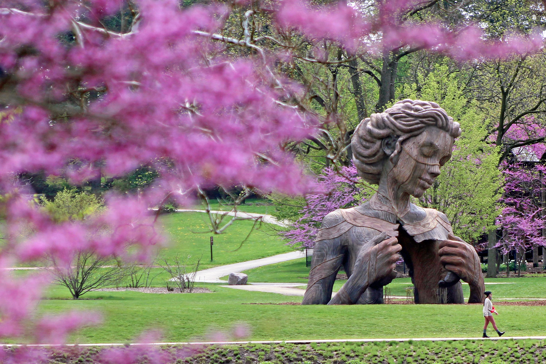 See massive sculptures at Morton Arboretum