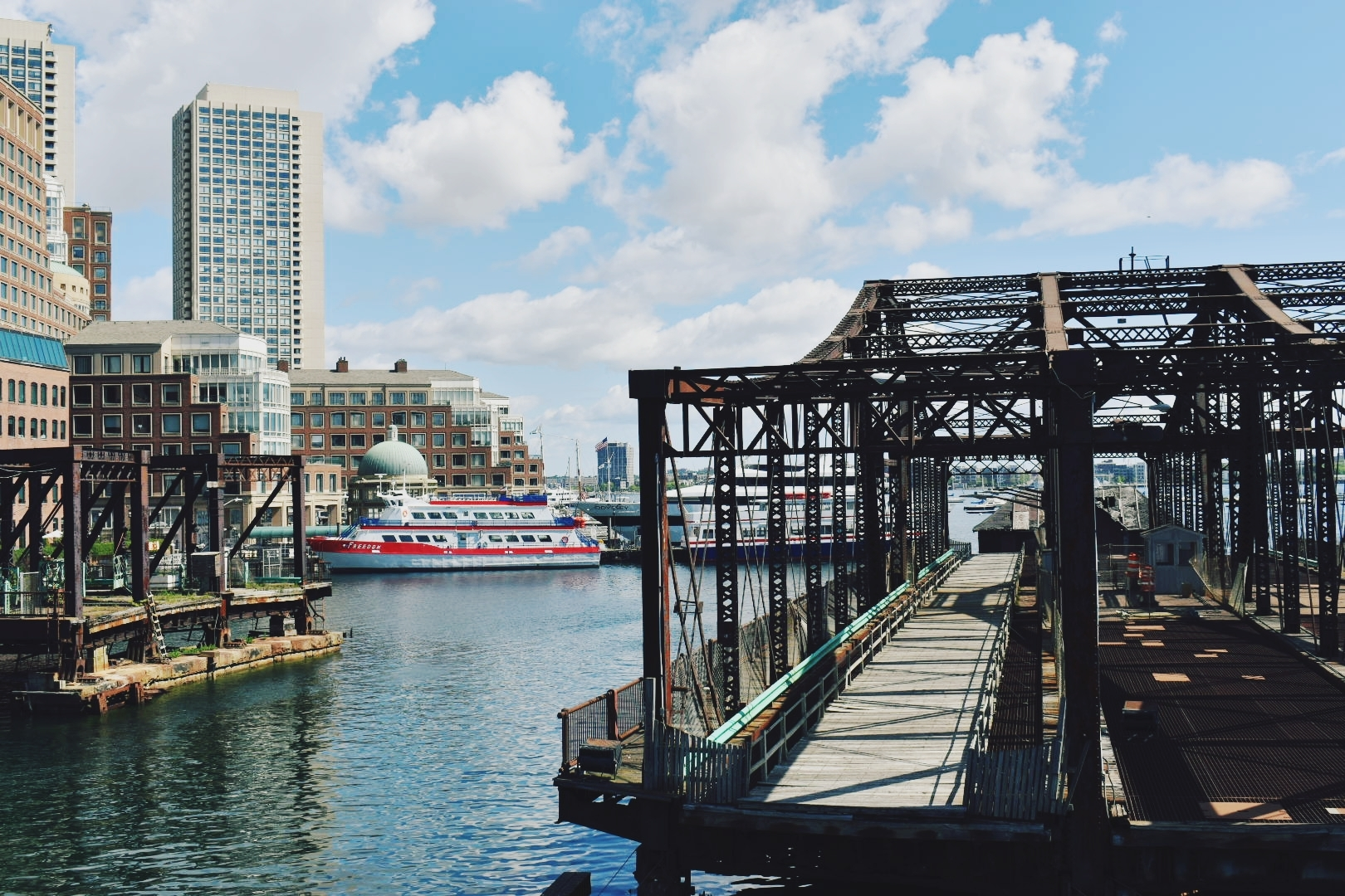 The Northern Avenue Bridge in Fort Point Channel