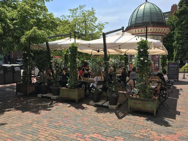 The patio at The Beehive