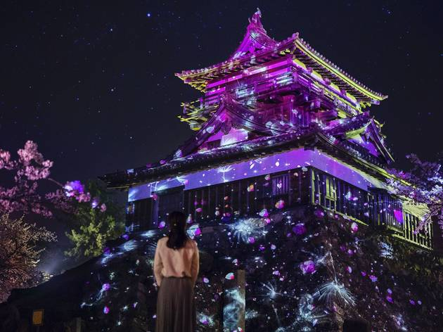 Maruoka Castle in Fukui prefecture now has projection mapping shows every night