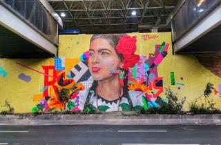 Mural del rostro de una mujer