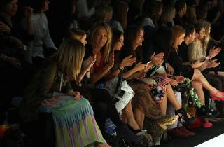 Audience watches Camilla show at Australian Fashion Week