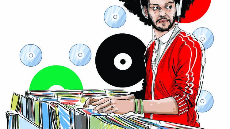 Il·lustració Fira Internacional del Disc de Barcelona