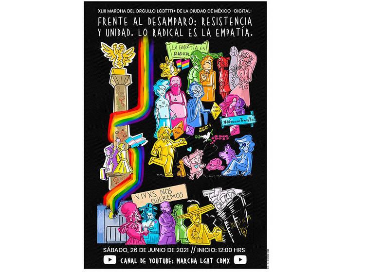 Conoce el cartel oficial de la Marcha del Orgullo LGBTTTI