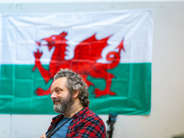 Michael Sheen in rehearsals for Under Milk Wood, National Theatre, 2021